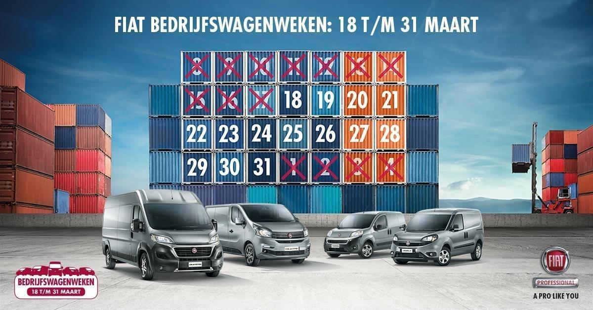 Afbeelding voor BEZOEK DE FIAT BEDRIJFSWAGENWEKEN van 18 T/M 31 MAART.