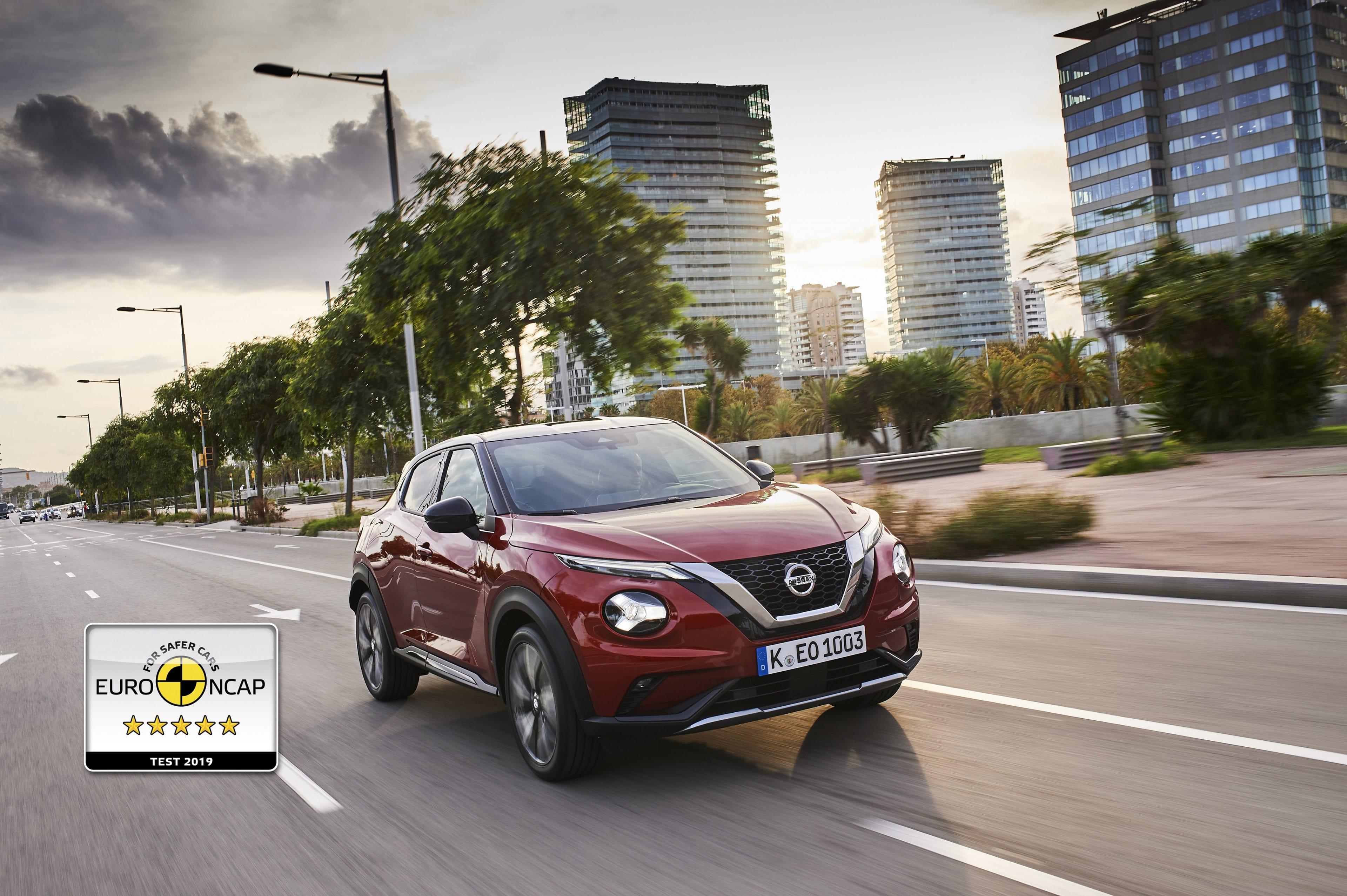 Afbeelding voor Vijf sterren Euro NCAP voor nieuwe generatie Nissan JUKE