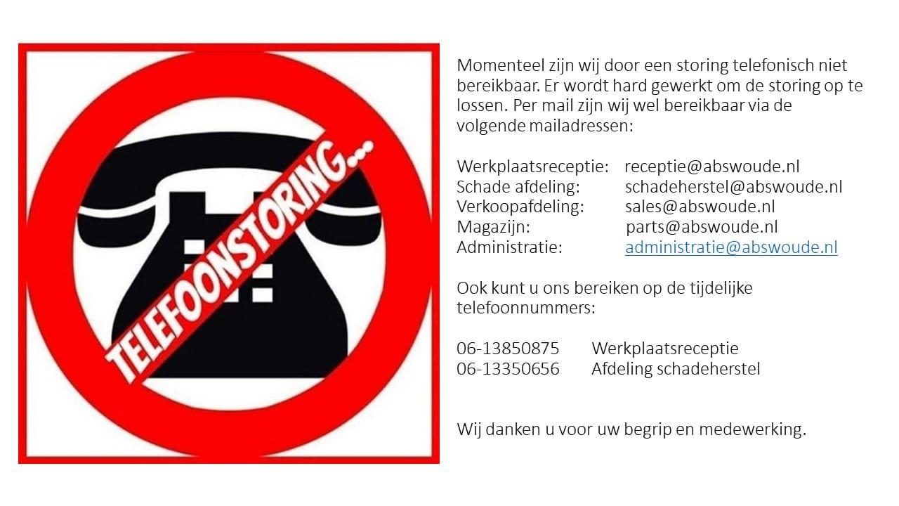 Afbeelding voor Abswoude Autopromenade telefonisch niet bereikbaar